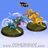 Lizardmen - Set of 2 Chameleons - Meiko Miniatures