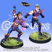Dark Elves - Set of 2 Dark Elf Runners - Meiko Miniatures