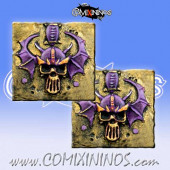 Set of 2 Dark Elf Reroll and Turn Metal Counters - Meiko Miniatures