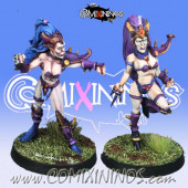 Dark Elves - Set of 2 Dark Elf Witches - Meiko Miniatures