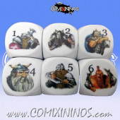 Set of 2d6 Illustrated Dwarf Dice