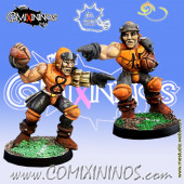 Humans - Set of 2 Ball-Breakers Human Throwers - Meiko Miniatures