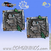 Set of 2 Lizardmen Reroll and Turn Metal Counters - Meiko Miniatures