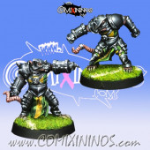 Ratmen - Set of 2 Storm Vermin Blitzers - Willy Miniatures
