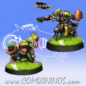Ratmen - Set of 2 Ratmen Throwers - Willy Miniatures