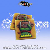Set of 2 Wood Elf Reroll and Turn Counters - Chaos Factory
