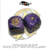 Set of 2d6 Amazon Dice - SP Miniaturas
