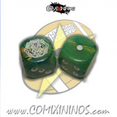 Set of 2d6 Frogmen Dice - SP Miniaturas