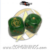 Set of 2d6 Wood Elves Dice - SP Miniaturas