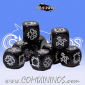 Set of 3 Black Block Dice - Txarli Miniatures