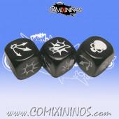 Set of 3 Black Block Dice - SP Miniaturas