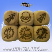 Set of 3 Dwarf Block Dice Large Size 20 mm - Wooden