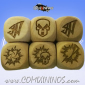 Set of 3 Elf Block Dice Large Size 20 mm - Wooden