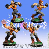 Humans - Set of 4 Ball-Breakers Human Catchers - Meiko Miniatures