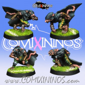 Ratmen - Set of 4 Gutter Runners - Willy Miniatures