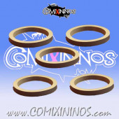Skill Markers - Set of 5 Grey Rubber Deluxe Rings for 25 mm Bases - Comixininos