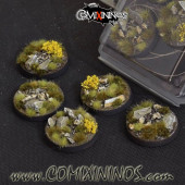 Set of 5 Round 40mm Battle Ready Highland Bases  - Gamer's Grass