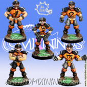 Humans - Set of 5 Human Linemen - Meiko Miniatures