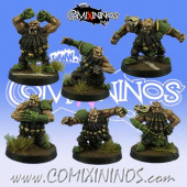 Evil Dwarves - Grim Butchers Set of 6 Evil Dwarf Blockers - Goblin Guild