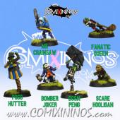 Goblins - Set of 6  Goblins with Weapons of Gobham Asylum Team - Labmasu
