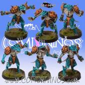 Lizardmen - Set of 6 Lizaurus - Txarli Miniatures