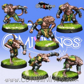 Ratmen - Set of 6 Ratmen Linemen - Willy Miniatures