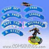 Set of 7 Blue Pass Puzzle Skills for 32 mm GW Bases - Comixininos