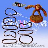 Set of 8 Black Standard Rubber Skill Rings - Comixininos