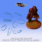 Set of 8 Blue Standard Rubber Skill Rings - Comixininos