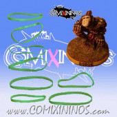 Set of 8 Green Standard Rubber Skill Rings - Comixininos