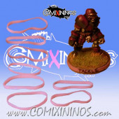 Set of 8 Purple Standard Rubber Skill Rings - Comixininos