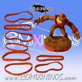 Set of 8 Red Standard Rubber Skill Rings - Comixininos