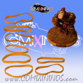 Set of 8 Yellow Standard Rubber Skill Rings - Comixininos