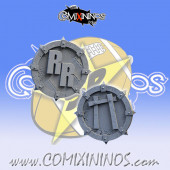 Set of 2 Ratmen Rat Max Reroll and Turn Counters - SP Miniaturas