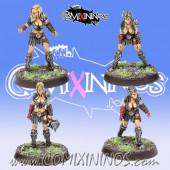 Amazons - Set A of 4 Amazon Smashers Linewomen - Fireforge Games