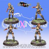 Amazons - Set B of 4 Amazon Smashers Linewomen - Fireforge Games