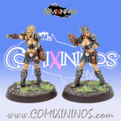 Amazons - Set of 2 Throwers Amazon Smashers - Fireforge Games