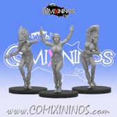 Amazons / Humans - Set of 3 Amazon Cheerleaders - Fireforge Games
