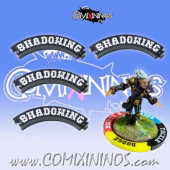 Set of 4 Black Shadowing Puzzle Skills for 32 mm GW Bases - Comixininos