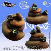 Dog Poo Football with Flies - Meiko Miniatures