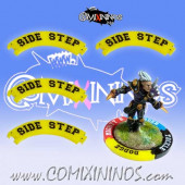 Set of 4 Yellow Side Step Puzzle Skills for 32 mm Bases - Comixininos