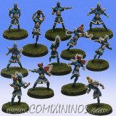 High Elves - Silver Arrows Basic Team of 12 Players - SP Miniaturas