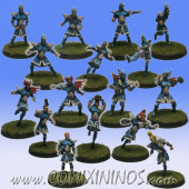 High Elves - Silver Arrows Complete Team of 16 Players - SP Miniaturas