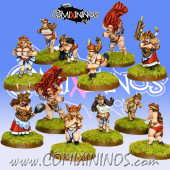 Dwarves - Sister Sledgehammerers Maidens Team of 12 Players - Warlord Games