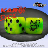 Set of 2d6 Ratmen Dice Set 1 - Meiko