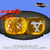 Set of 2d6 Ratmen Dice nº 2 Yellow - Akaro