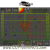 34 mm Ratmen Plastic Gaming Mat with BB7 and Crossed Dugouts - Comixininos