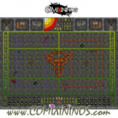 34 mm Ratmen Plastic Gaming Mat with BB7 Parallel Dugouts - Comixininos