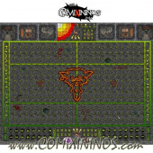 34 mm Ratmen Plastic Gaming Mat with Parallel Dugouts - Comixininos