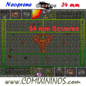 Ratmen Neoprene Mousepad Pitch of 34 mm Squares WITH Dugouts - Comixininos